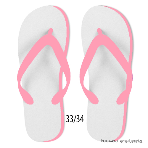 Chinelo Pink Adulto 33/34