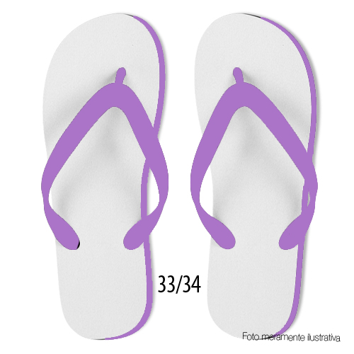 Chinelo Lilas Adulto 33/34