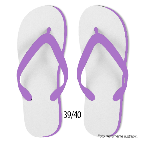 Chinelo Lilas Adulto 39/40