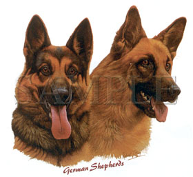 Cachorro German Shephards - Adulto - 6 Unid.
